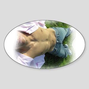 Summer Laze Oval Sticker