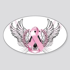 Awareness Tribal Pink Sticker (Oval)