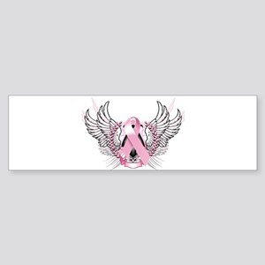 Awareness Tribal Pink Sticker (Bumper)