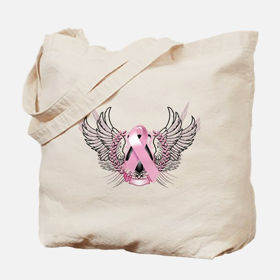 Awareness Tribal Pink Tote Bag