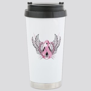 Awareness Tribal Pink Stainless Steel Travel Mug