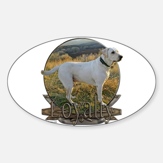 White lab loyalty Sticker (Oval)