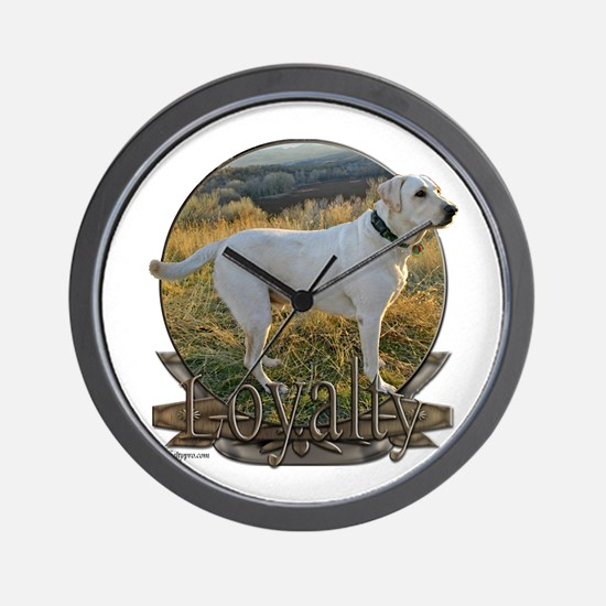 White lab loyalty Wall Clock