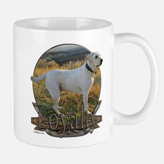 White lab loyalty Mug