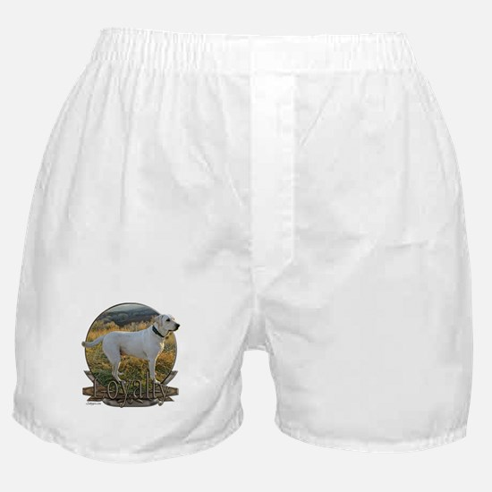 White lab loyalty Boxer Shorts