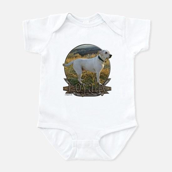 White lab loyalty Infant Bodysuit