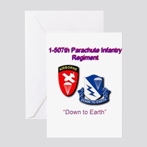 507th Airborne Regiment Greeting Card