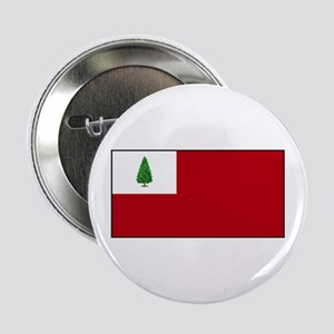 """New England, Flags and Slogan 2.25"""" Button"""
