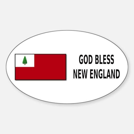 God Bless New England - Sticker (Oval)