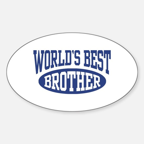 World's Best Brother Sticker (Oval)