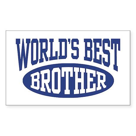 World's Best Brother Sticker (Rectangle 10 pk)