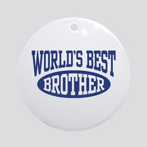 World's Best Brother Ornament (Round)