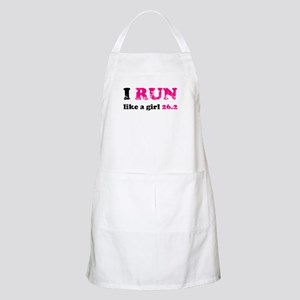 I run like a girl 26.2 Apron