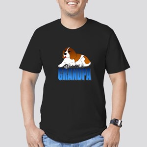Beagle Grandpa Men's Fitted T-Shirt (dark)