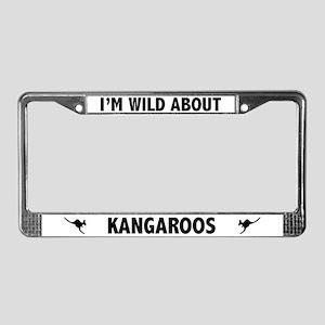 Wild About Kangaroos License Plate Frame