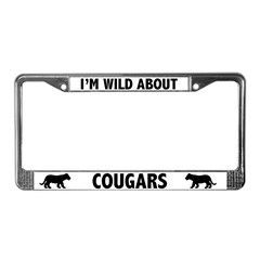 Wild About Cougars License Plate Frame