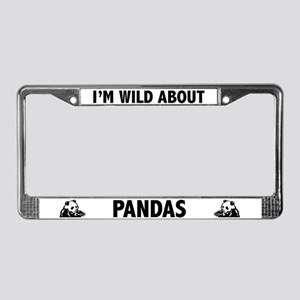 Wild About Pandas License Plate Frame