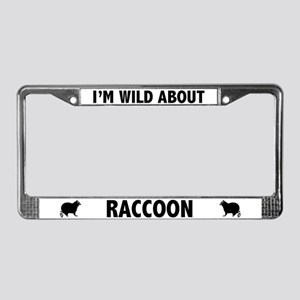 Wild About Raccoons License Plate Frame