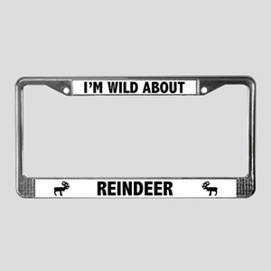 Wild About Reindeer License Plate Frame