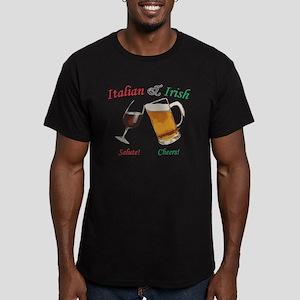 Italian and Irish Men's Fitted T-Shirt (dark)