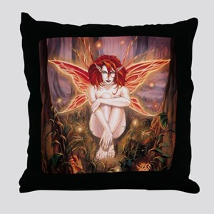 Ruth Thompson's Ember Faerie Throw Pillow