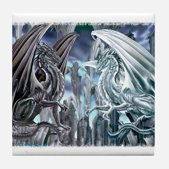 Ruth Thompson's Checkmate Dragon Tile Coaster