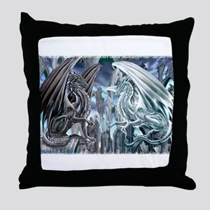 Ruth Thompson's Checkmate Dragon Throw Pillow