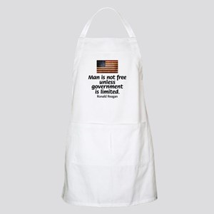 Man is not free unless... Apron