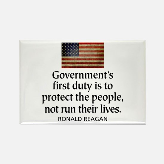 REAGAN: Government's first duty... QUOTE Rectangle