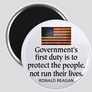 REAGAN: Government's first duty... QUOTE Magnet