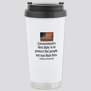 REAGAN: Government's first duty... QUOTE Stainless