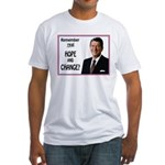Reagan Hope & Change Fitted T-Shirt