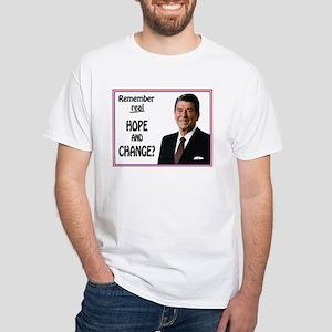 Reagan Hope & Change White T-Shirt