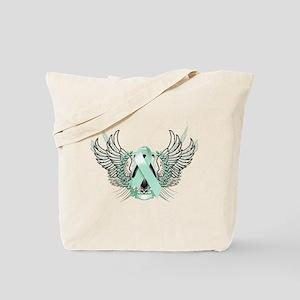 Awareness Tribal Teal Tote Bag