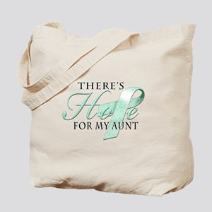 There's Hope for Ovarian Cancer Aunt Tote Bag