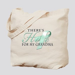 There's Hope for Ovarian Cancer Grandma Tote Bag