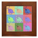 Warhol Style Jack Russell Design on Framed Tile