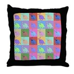 Warhol Style Jack Russell Design on Throw Pillow