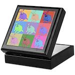 Warhol Style Jack Russell Design on Keepsake Box