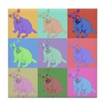 Warhol Style Jack Russell Design on Tile Coaster