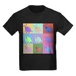 Warhol Style Jack Russell Design on Kids Dark T-Sh