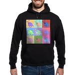 Warhol Style Jack Russell Design on Hoodie (dark)