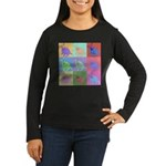 Warhol Style Jack Russell Design on Women's Long S