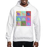 Warhol Style Jack Russell Design on Hooded Sweatsh