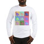 Warhol Style Jack Russell Design on Long Sleeve T-