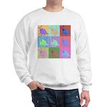 Warhol Style Jack Russell Design on Sweatshirt
