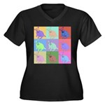 Warhol Style Jack Russell Design on Women's Plus S