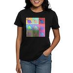 Warhol Style Jack Russell Design on Women's Dark T