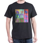 Warhol Style Jack Russell Design on Dark T-Shirt