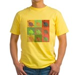 Warhol Style Jack Russell Design on Yellow T-Shirt